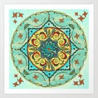 Overhead Sky Mandala Art Print