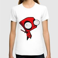 Dead-pool GIR  Womens Fitted Tee White SMALL