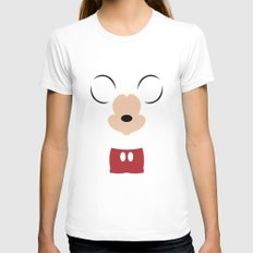 Disney - Mickey Mouse Womens Fitted Tee White SMALL