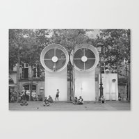 PEOPLE OF PARIS Canvas Print