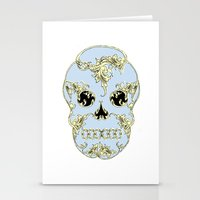 Rococo Skull Stationery Cards