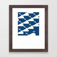 Whale in the ocean Framed Art Print