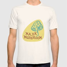 Majik Mushroom Mens Fitted Tee Natural SMALL
