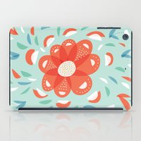 Whimsical Decorative Red Flower iPad Case