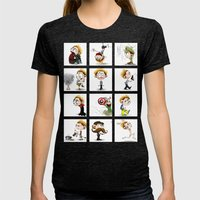 It's Hiddles O'Clock Womens Fitted Tee Tri-Black SMALL