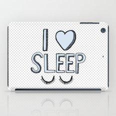 I Love Sleep iPad Case