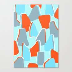 Blue Boulder Canvas Print