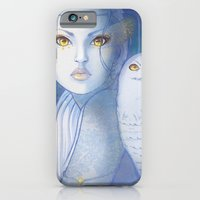 iPhone & iPod Case featuring Snowy Owl Girl by Lila Cattis