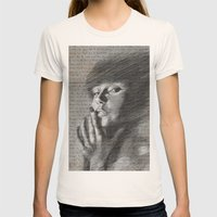 Annie Womens Fitted Tee Natural SMALL
