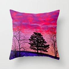 Winter's Sky Throw Pillow