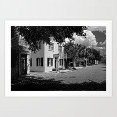 B&W Side Street Charleston S.C. Art Print