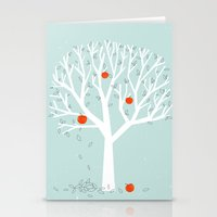 Apple Season Stationery Cards