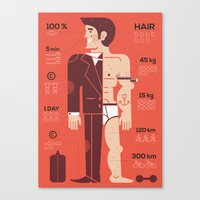 Men ... Canvas Print