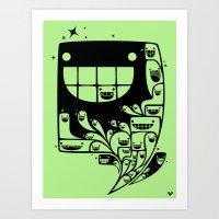Happy Inside - 1-Bit Odd… Art Print