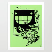 Happy Inside - 1-Bit Odd… Art Print
