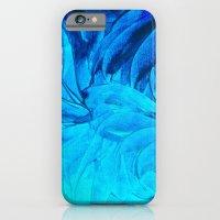 PETAL PINWHEELS, Revisited -  Indigo Royal Blue Turquoise Floral Pattern Swirls Ocean Water Flowers iPhone 6 Slim Case