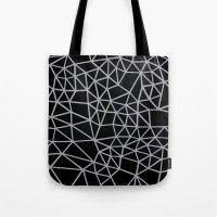 Segment Grey and Black Tote Bag