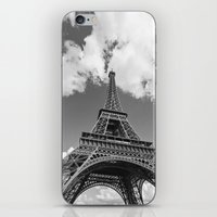 Eiffel Tower - Black and White iPhone & iPod Skin