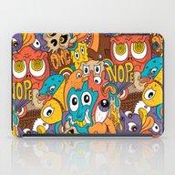 Weird Guys Pattern iPad Case