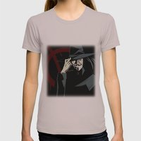 V for Vendetta (e1) Womens Fitted Tee Cinder SMALL