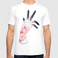 Burn Mens Fitted Tee White SMALL