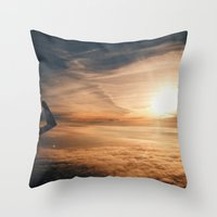 from the plane window Throw Pillow
