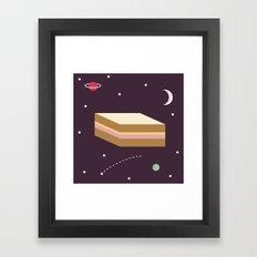 Ham & Cheese in Space Framed Art Print