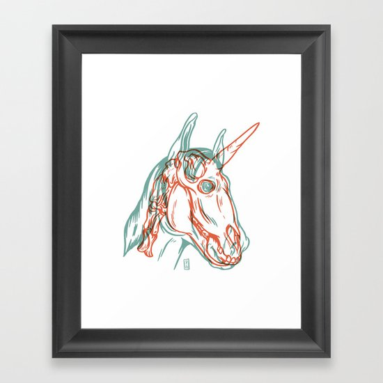 Unicorn Xray Framed Art Print By Thomcat23 Society6