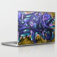 graffiti Laptop & iPad Skins featuring Graffiti by Fine2art