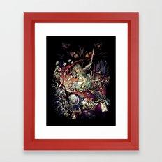 Zombies In Wonderland Framed Art Print