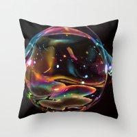 Galactic Bubble Throw Pillow