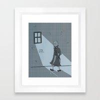 The Belgian Journalist. Framed Art Print