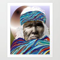 Colorful Blanket Wrappin… Art Print