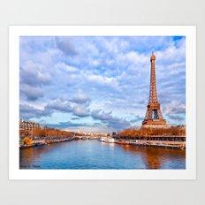Classic Paris Scenic Vie… Art Print