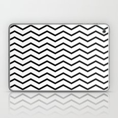 Black Chevron On White Laptop & iPad Skin