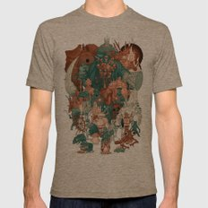Dark Souls Gang Mens Fitted Tee Tri-Coffee SMALL