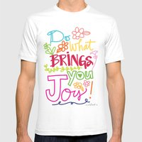 Do What Brings You Joy Mens Fitted Tee White SMALL