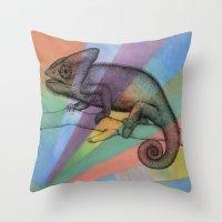 Chameleon (1) Throw Pillow