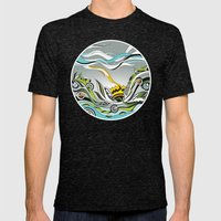 When the Earth meets the Sky Mens Fitted Tee Tri-Black SMALL
