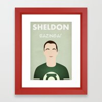 The Big Bang Theory - Sheldon Framed Art Print