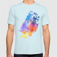 Sunny Leo   Mens Fitted Tee Light Blue SMALL