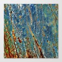 Blue Archetypal Structures Canvas Print