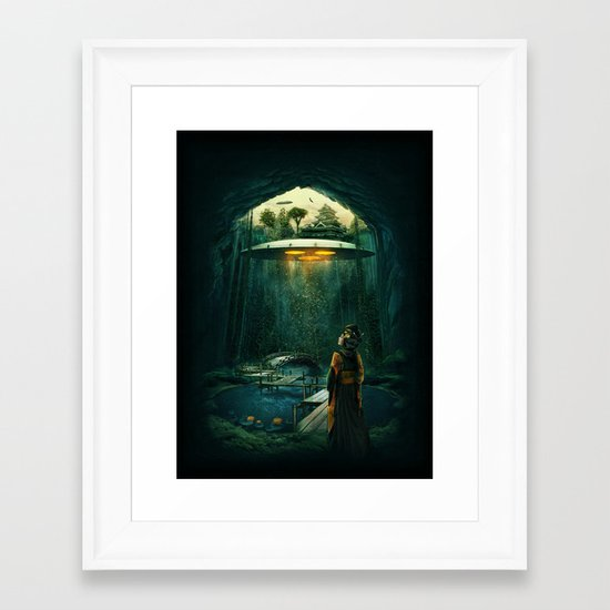 green layer Framed Art Print