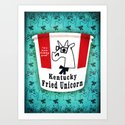 Kentucky Fried Unicorn Art Print