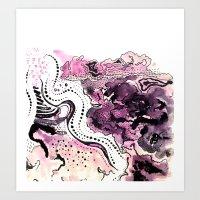 Crazy Pink Art Print