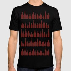 Bottles Red Mens Fitted Tee Black SMALL
