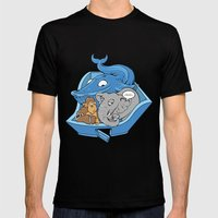 The Blue Whale in the Room Mens Fitted Tee Black SMALL