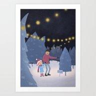 Picking The Christmas Tr… Art Print