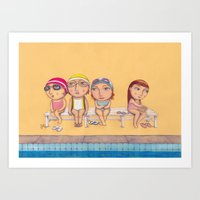 Swimmers Art Print