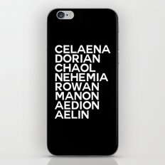 Throne of Glass Group iPhone & iPod Skin